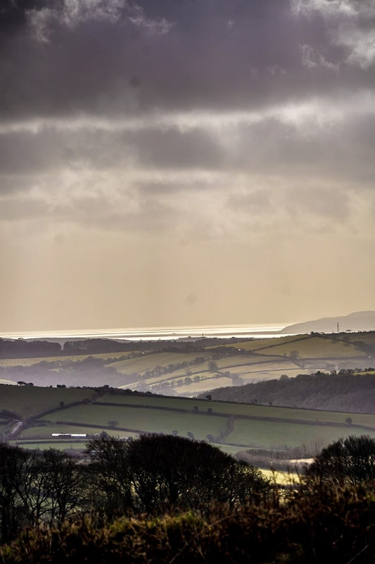 St Austell Bay from Warleggan photographed by Peter Hicks