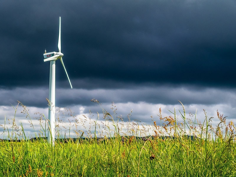 Turbine in the Grass photographed by Peter Hicks
