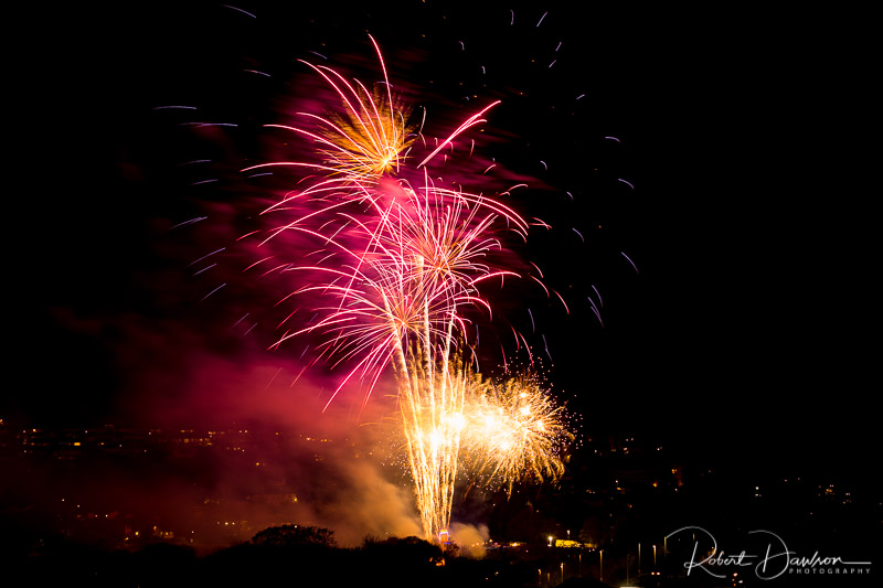 Bodmin Fireworks (2017) photographed by Robert Dawson