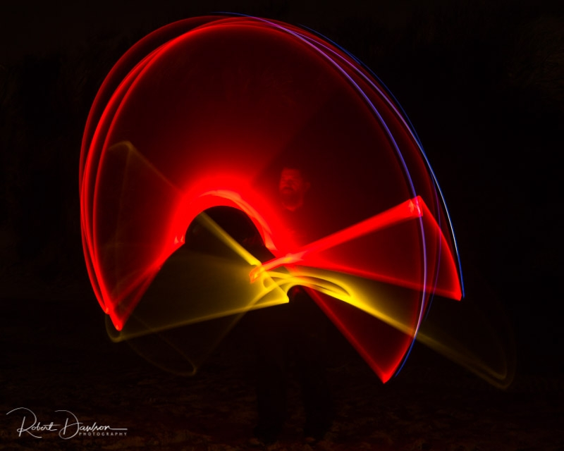 Lightpainting Shananigans photographed by Robert Dawson