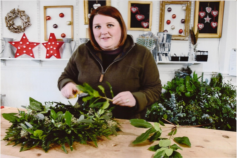 A Florist's Christmas photographed by Allan Middleton