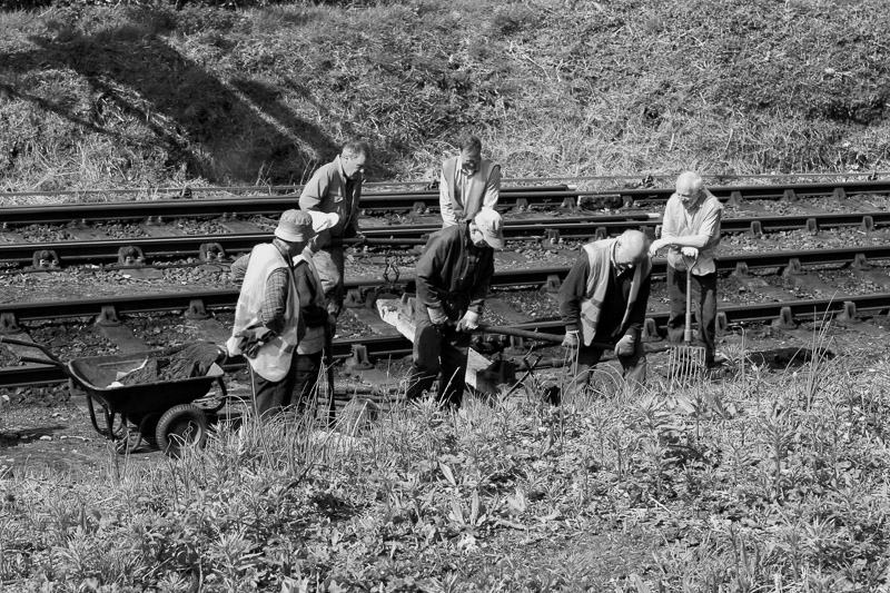 Railway Workers photographed by Debbie Murrell