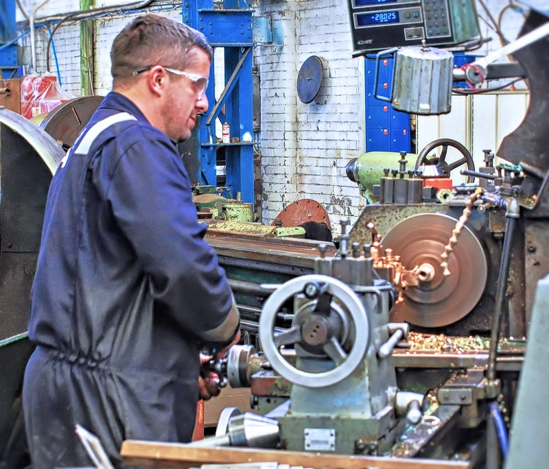 Lathe Work photographed by Peter Newbery