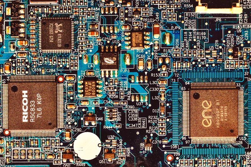 Bronze Award - Printed Circuit Board photographed by Allan Middleton