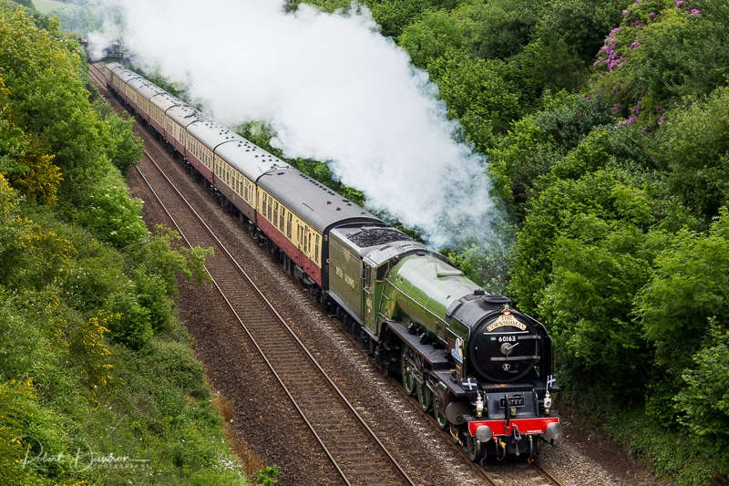 60163 Tornado arrives in Cornwall photographed by Robert Dawson
